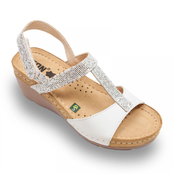 Sandale Leon 1061 alb - dama 0