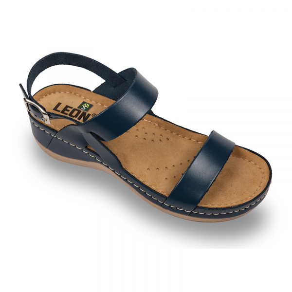 Sandale Leon 920 albastru - dama 0