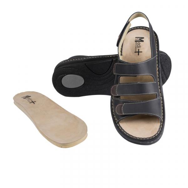 Sandale Medi+ 5892S negru - barbati - cu taloneta detasabila 0