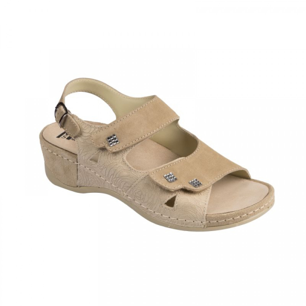 Sandale Medi+ 766 beige - dama - cu taloneta detasabila 1
