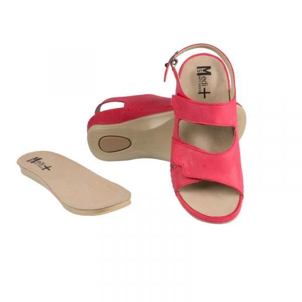 Sandale Medi+ 766 rosu - dama - cu taloneta detasabila 0