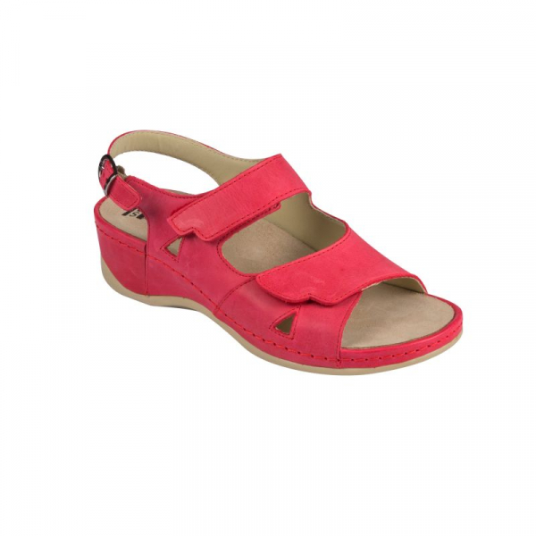 Sandale Medi+ 766 rosu - dama - cu taloneta detasabila 1
