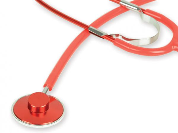 Stetoscop cu capsula simpla GIMA - Latex Free - rosu (51001) 0