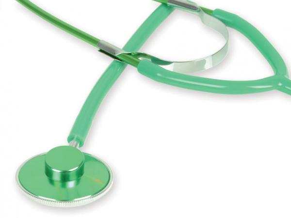 Stetoscop cu capsula simpla GIMA - Latex Free - verde (51004) 0