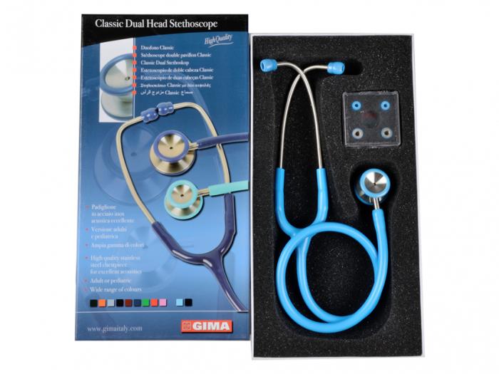 Stetoscop pediatric Accustic II Gima - albastru deschis (32512) [0]