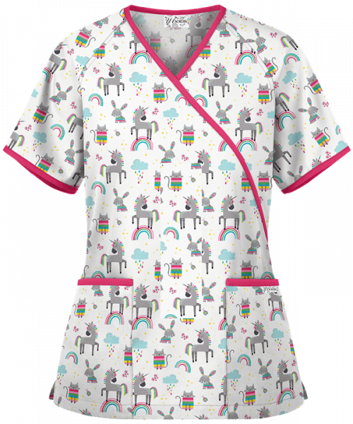"Bluza medicala ""Rainbow Friends"" (WT668RBW) 0"