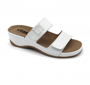 Papuci medicali Leon 2020 alb - dama0