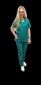Costum medical verde chirurgical - unisex0