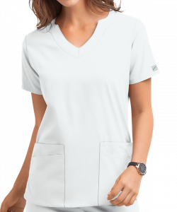 "Bluza medicala ""Scallop neck"" (UAS194C)1"