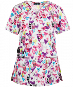"Bluza medicala ""Happy Hearts"" (CK616HAP)0"