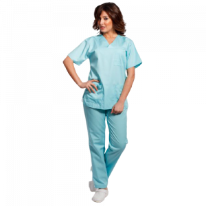 Costum medical aqua - unisex0