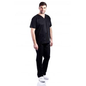 Costum medical negru - unisex0