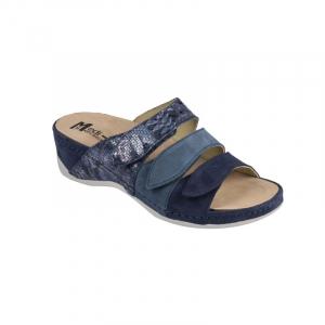 Papuci Medi+ 701-18-5 albastru - dama - cu taloneta detasabila [1]