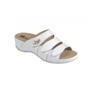 Papuci Medi+ 701-18 alb - dama1