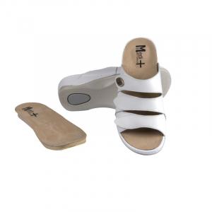 Papuci Medi+ 701-18 alb - dama0