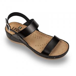 Sandale Leon 920 negru - dama0