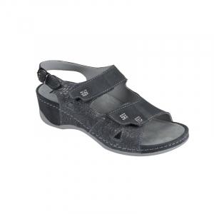 Sandale Medi+ 766 gri - dama - cu taloneta detasabila1