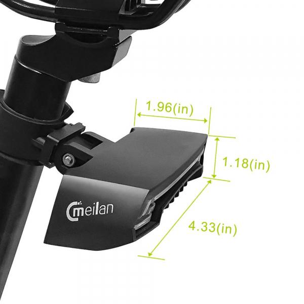 lumini bicicleta semnalizator bicicleta wireless meilan x5 9