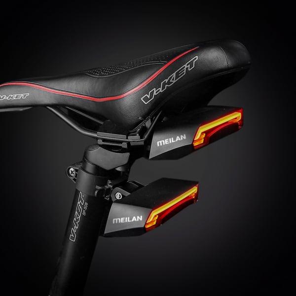lumini bicicleta semnalizator bicicleta wireless meilan x5 4