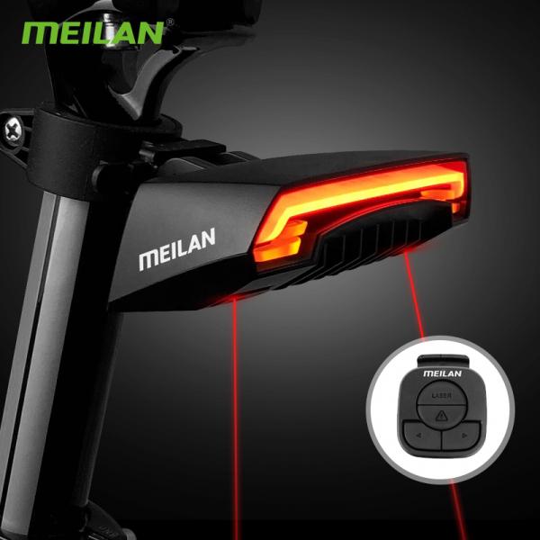 lumini bicicleta semnalizator bicicleta wireless meilan x5 1