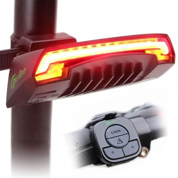 lumini bicicleta semnalizator bicicleta wireless meilan x5 0