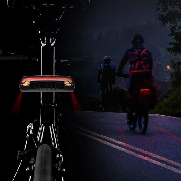 lumini bicicleta semnalizator bicicleta wireless meilan x5 8