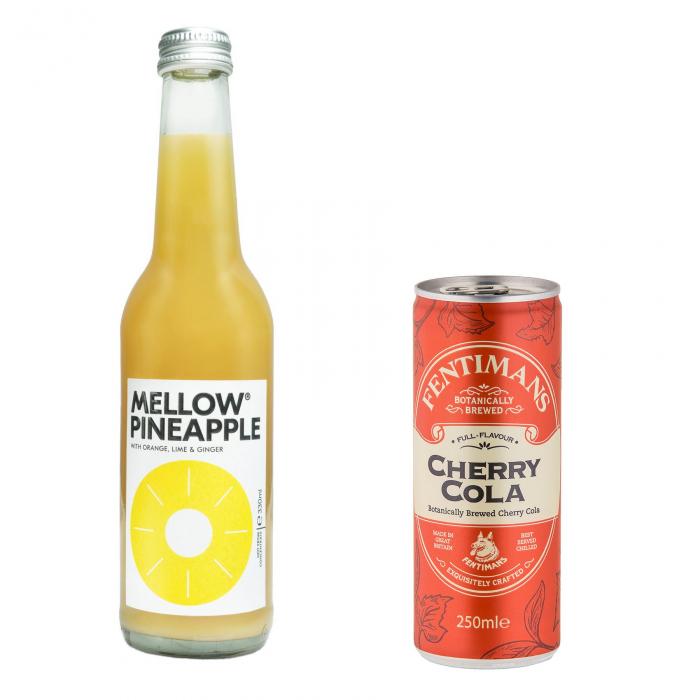 Pachet Promo: Mellow - Pineapple & Fentimans Cherry Tree Cola, 24 X 250ML 0