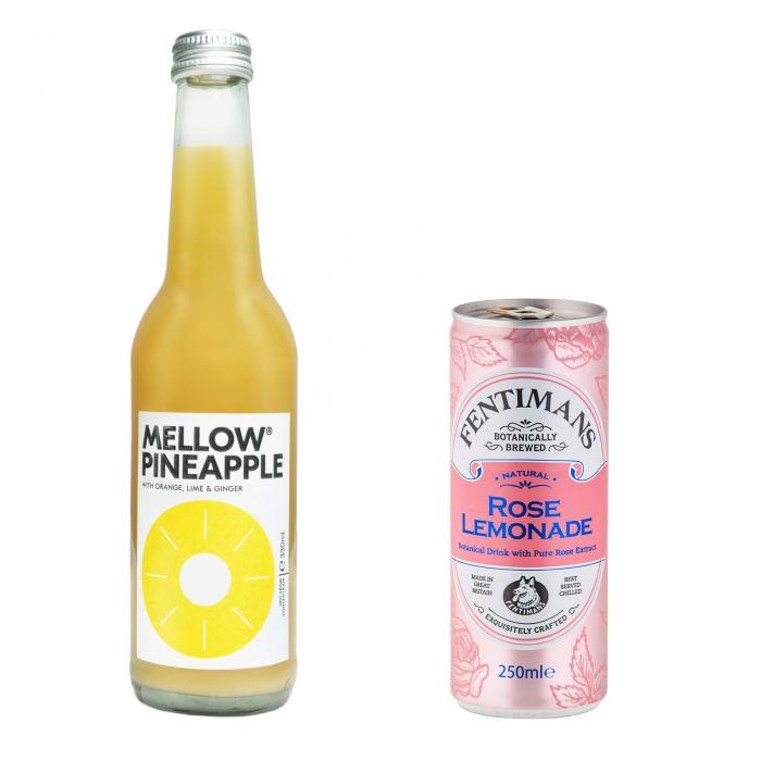Pachet Promo: Mellow - Pineapple & Fentimans Rose Lemonade, 24 X 250ML 0