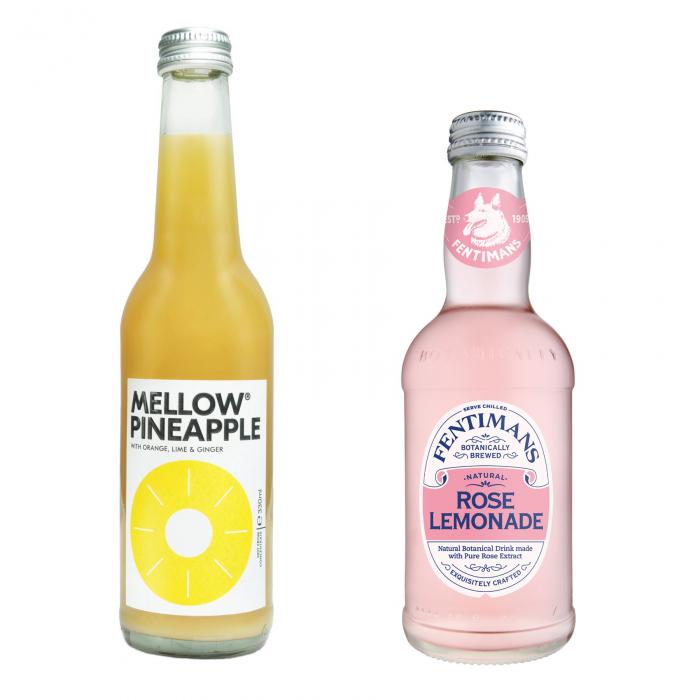 Pachet Promo: Mellow - Pineapple & Fentimans Rose Lemonade, 12 X 275ML 0