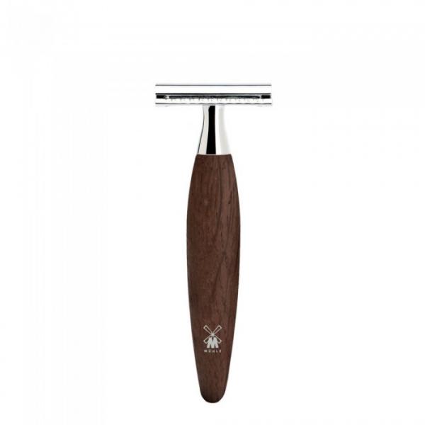 Aparat de ras clasic cu maner din lemn de stejar mlastina, piaptan inchis Kosmo R 873 SR 0