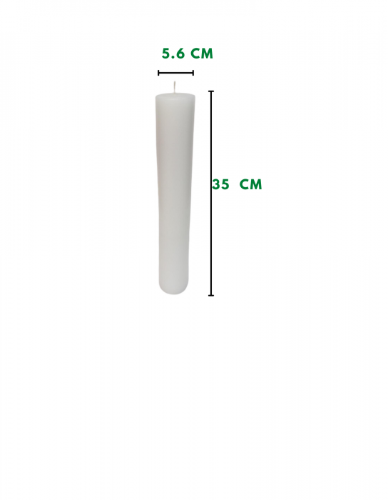 Lumanare scurta olive D5.6xH35 cm [1]