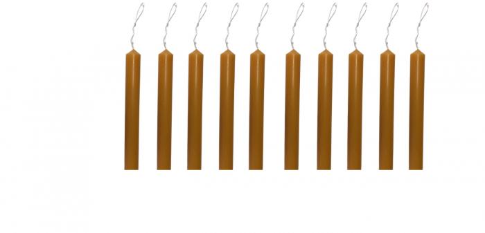 Cutie 10 lumanari clasice simple  D3.5xH60 cm -culoarea cerii de albine 0