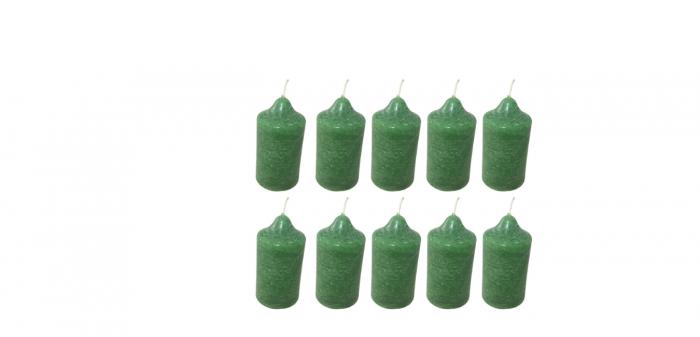 Cutie 10 Lumanari coronita Craciun D4.4xH6.5 cm Colorate [8]