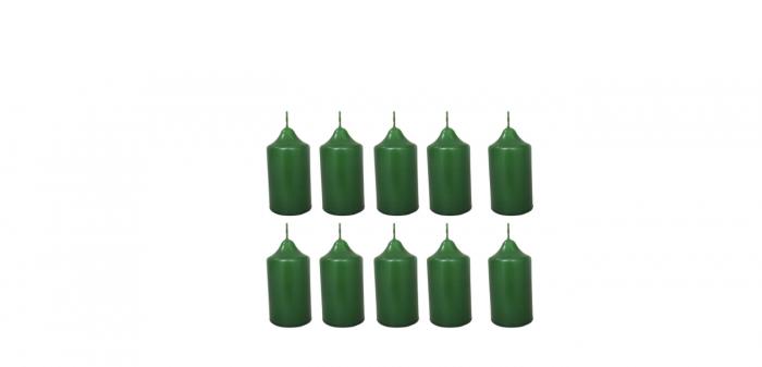 Cutie 10 Lumanari coronita Craciun D4.4xH6.5 cm Colorate [2]