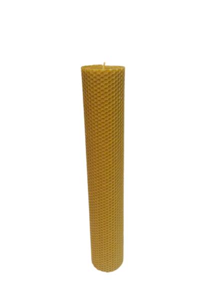 Lumanare ceara de albine D6xH35 cm [0]