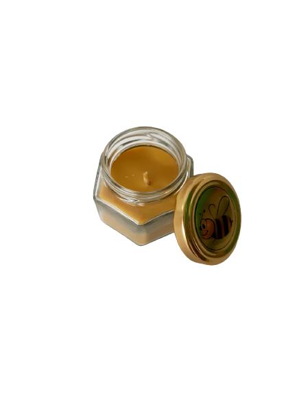 Lumanare ceara de albine in recipient de sticla [1]