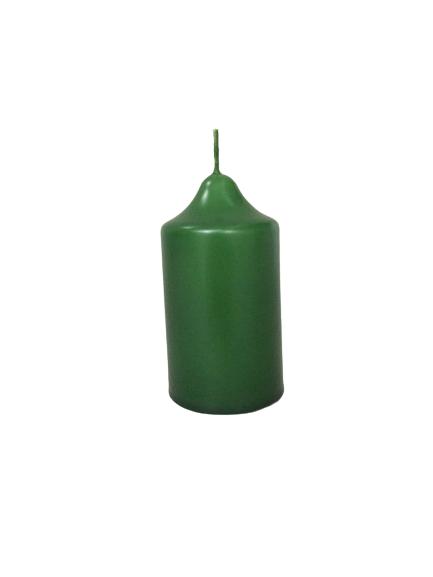 Lumanare coronita Craciun D4.4xH6.5 cm Verde [0]