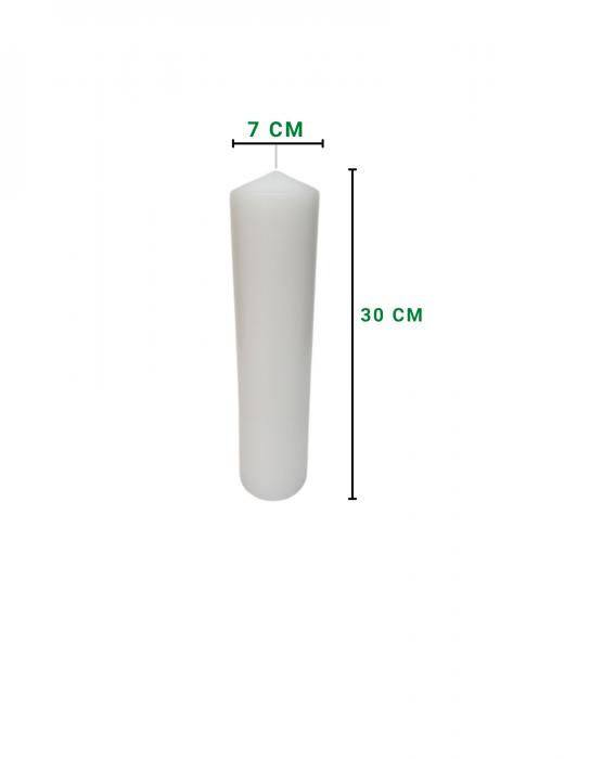 Lumanare scurta D7xH30 cm [1]