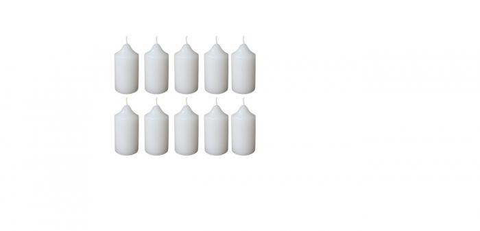 Cutie 10 Lumanari stalp D4.4xH6.5 cm [0]