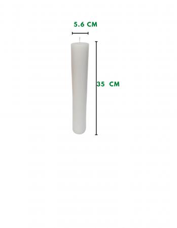 Lumanare scurta turcoaz D5.6xH35 cm1