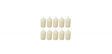 Cutie 10 Lumanari coronita Craciun D4.4xH6.5 cm Colorate [1]