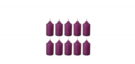 Cutie 10 Lumanari coronita Craciun D4.4xH6.5 cm Colorate [4]