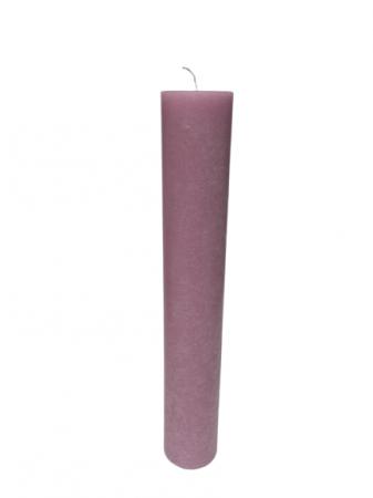 Lumanare scurta lila D5.6xH35 cm0