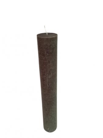 Lumanare scurta olive D5.6xH35 cm [0]
