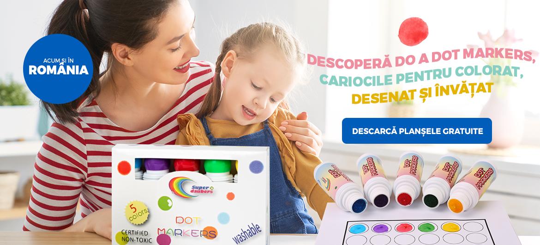 Carioci pentru copii Do a Dot Markers lavabile.
