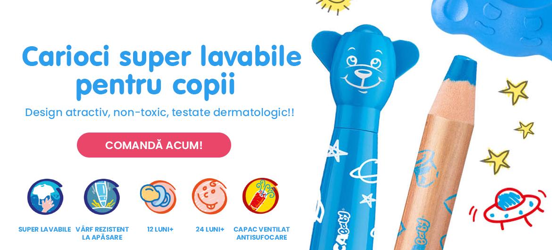 Banner carousel - Carioci lavabile pentru copii, Carioca.