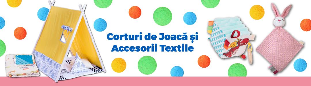 Corturi de joaca Teepee si accesorii textile pentru copii.