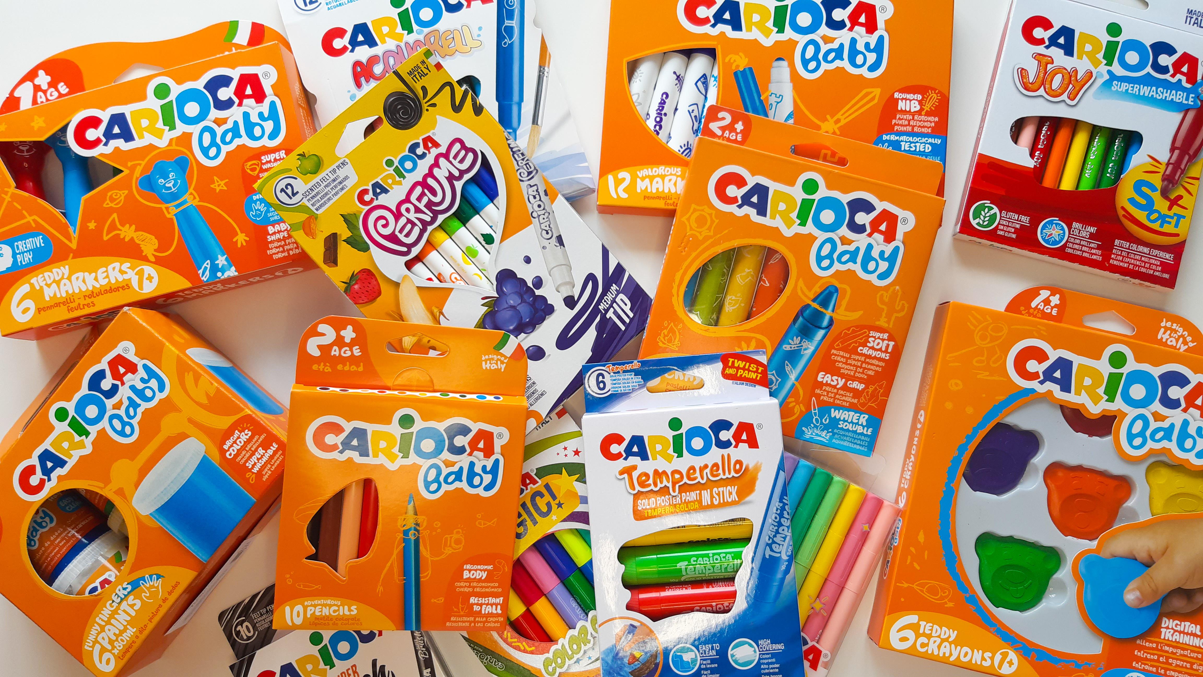 Carioci lavabile și creioane moi pentru bebeluși și copii cu vârsta de 1 an