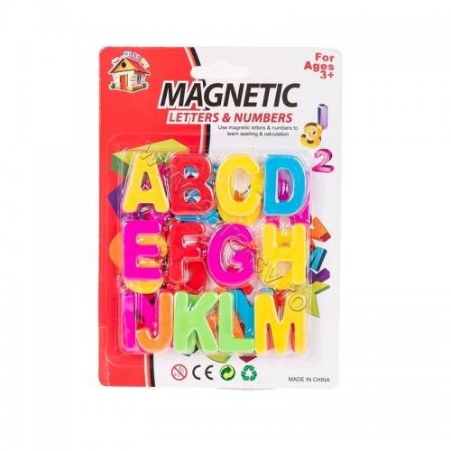 Set 26 litere de tipar magnetice din plastic, alfabet copii. 3