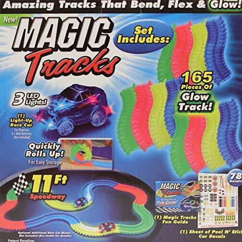 Jucarie copii circuit pista flexibila 165 piese Magic Tracks cu masina. 0
